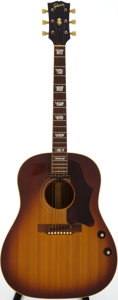Musical Instruments:Acoustic Guitars, 1968 Gibson J-160E Sunburst Acoustic Electric Guitar, Serial # 948870....