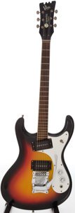 Musical Instruments:Electric Guitars, 1966 Mosrite Ventures Sunburst Solid Body Electric Guitar, Serial #V5201....