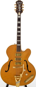 Musical Instruments:Electric Guitars, 1950s Epiphone Zephyr Emperor Regent Natural Archtop Electric Guitar, #64672....