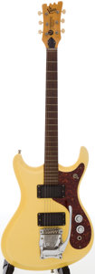 Musical Instruments:Electric Guitars, 1960s Mosrite Mark V Cream Solid Body Electric Guitar, Serial #B994....