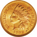 Indian Cents: , 1909-S 1C MS65 Red NGC. The rarest of the three 1909-S cents in Gem Red condition by far, the 1909-S Indian's rarity is con...