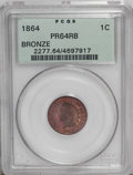 Proof Indian Cents: , 1864 1C Bronze No L PR64 Red and Brown PCGS. While not as elusive as the 1864 With L, this issue is estimated to have a min...