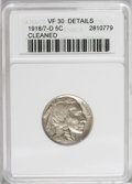 Buffalo Nickels: , 1918/7-D 5C --Cleaned--ANACS. VF30 Details. This nicely detailedkey date nickel has a grayish cast from a relatively mild c...