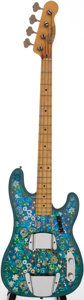 Musical Instruments:Electric Guitars, 1968 Fender Telecaster Bass Blue Floral Pattern Electric BassGuitar, Serial # 240800....