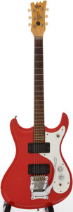 Musical Instruments:Electric Guitars, Late-1960s Mosrite Ventures II Red Solid Body Electric Guitar, Serial # B502....