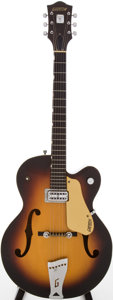 Musical Instruments:Electric Guitars, 1958 Gretsch Anniversary Sunburst Semi-Hollow Body Electric Guitar, Serial # 29671....