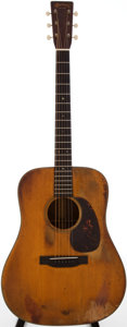 Musical Instruments:Acoustic Guitars, 1941 Martin D-18 Natural Acoustic Guitar, Serial # 78940....
