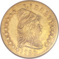Early Eagles, 1795 $10 13 Leaves AU53 NGC. BD-1, High R.3....