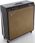 Musical Instruments:Amplifiers, PA, & Effects, 1966 Fender Super Reverb Black Guitar Amplifier, Serial # A19848....