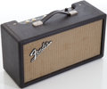 Musical Instruments:Amplifiers, PA, & Effects, 1965 Fender Black Reverb Unit, Serial # R09332....