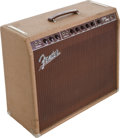 Musical Instruments:Amplifiers, PA, & Effects, 1960 Fender Pro Brown Guitar Amplifier, Serial # 00904....