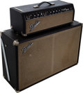 Musical Instruments:Amplifiers, PA, & Effects, 1967 Fender Bandmaster Black Guitar Amplifier Head and Cabinet,Serial # A23919.... (Total: 2 Items)
