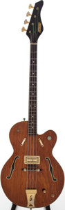 Musical Instruments:Electric Guitars, 1966 Gretsch Country Gentleman Brown Stain Electric Bass Guitar, Serial # 862....