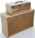 Musical Instruments:Amplifiers, PA, & Effects, 1963 Fender Bassman Blonde Bass Guitar Amplifier and Cabinet,Serial # BP05564....