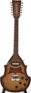Musical Instruments:Electric Guitars, 1960s Danelectro Bellzouki Sunburst Solid Body 12-String ElectricGuitar....