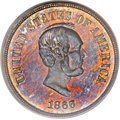 Patterns, 1866 5C Five Cents, Judd-487, Pollock-576, Low R.7, PR66 Red andBrown PCGS. CAC....