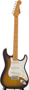 Musical Instruments:Electric Guitars, 1983 '57 Fullerton Reissue Fender Stratocaster Sunburst Solid BodyElectric Guitar, Serial # V009190....