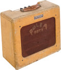 Musical Instruments:Amplifiers, PA, & Effects, 1949 Fender Deluxe Tweed Guitar Amplifier, Serial # 852....