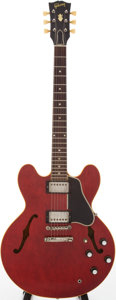 Musical Instruments:Electric Guitars, 1961 Gibson ES-335 Cherry Semi-Hollow Body Electric Guitar, Serial # 26689....