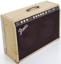 Musical Instruments:Amplifiers, PA, & Effects, 1962 Fender Twin Rough White Guitar Amplifier, Serial # 00340....