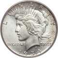 Peace Dollars, 1934-S $1 MS66 PCGS Secure....