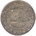 Colonials, 1776 $1 Continental Dollar, CURENCY, Pewter XF45 PCGS. Newman 1-C,W-8445, R.3....