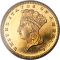 Proof Gold Dollars, 1880 G$1 PR66 Deep Cameo PCGS. CAC....