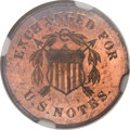 Patterns, 1863 10C Postage Currency Ten Cents, Judd-326B, unlisted inPollock, Possibly R.8, PR65 Red and Brown NGC....