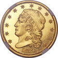 Proof Early Quarter Eagles, 1831 $2 1/2 PR64 Cameo NGC. BD-1, R.7 as a proof....