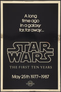 "Movie Posters:Science Fiction, Star Wars (Killian Enterprises, 1987). Rare 10th Anniversary GoldMylar One Sheet (27"" X 41"") Style A. Science Fiction.. ..."