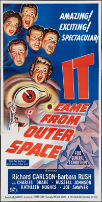 "It Came from Outer Space (Universal International, 1953). Australian Three Sheet (41"" X 81""). Science Fiction..."