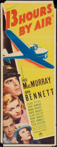 """Movie Posters:Mystery, 13 Hours by Air (Paramount, 1936). Insert (14"""" X 36""""). Mystery....."""