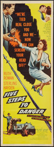 "Movie Posters:Adventure, Five Steps to Danger (United Artists, 1957). Insert (14"" X 36"").Adventure.. ..."