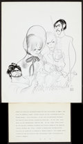 "Movie Posters:Romance, Far from the Madding Crowd (MGM, 1967). Al Hirschfeld Publicity Art (11"" X 14""). Romance.. ..."