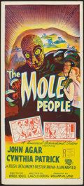 "Movie Posters:Science Fiction, The Mole People (Universal International, 1956). Australian Daybill(13"" X 30""). Science Fiction.. ..."