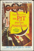 "Movie Posters:Horror, The Pit and the Pendulum (American International, 1961). One Sheet(27"" X 41""). Horror.. ..."