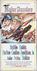 "Movie Posters:Western, Major Dundee (Columbia, 1965). Three Sheet (41"" X 81""). Western.. ..."