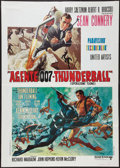 "Movie Posters:James Bond, Thunderball (United Artists, R-1970s). Italian 2 - Foglio (39"" X55""). James Bond.. ..."