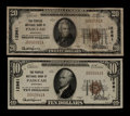 National Bank Notes:Kentucky, Paducah, KY - $10 1929 Ty. 1 and $20 1929 Ty. 1 The Peoples NB Ch.# 12961. ... (Total: 2 notes)