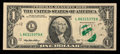 Error Notes:Gutter Folds, Fr. 1922-L $1 1995 Federal Reserve Note. Very Fine-Extremely Fine.. ...