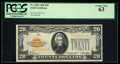 Small Size:Gold Certificates, Fr. 2402 $20 1928 Gold Certificate. PCGS Choice New 63.. ...