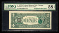 Error Notes:Third Printing on Reverse, Fr. 1910-G $1 1977A Federal Reserve Note. PMG Choice About Unc 58 EPQ.. ...