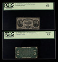 Fractional Currency:Third Issue, Fr. 1272SP 15¢ Third Issue Narrow Margin Face Specimen. PCGS New 62.. Fr. 1272SP 15¢ Third Issue Narrow Margin Back Specim... (Total: 2 )