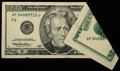 Error Notes:Foldovers, Fr. 2084-F $20 1996 Federal Reserve Note. Very Fine.. ...