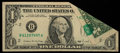 Error Notes:Foldovers, Fr. 1914-B $1 1988 Federal Reserve Note. Very Fine.. ...