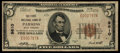 National Bank Notes:West Virginia, Parsons, WV - $5 1929 Ty. 1 The First NB Ch. # 9610. ...