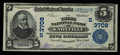 National Bank Notes:Tennessee, Knoxville, TN - $5 1902 Plain Back Fr. 600 The Third NB Ch. #(S)3708. ...