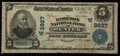 National Bank Notes:Colorado, Denver, CO - $5 1902 Plain Back Fr. 601 The Hamilton NB Ch. #(W)9887. ...