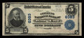 National Bank Notes:Missouri, King City, MO - $5 1902 Plain Back Fr. 598 The Citizens NB Ch. #6383. ...