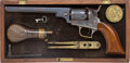Handguns:Single Action Revolver, Exceptional Cased Colt Baby Dragoon Percussion Revolver with Accoutrements....